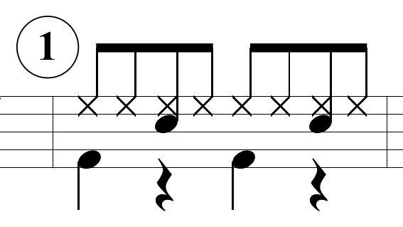 ベースドラムのパターン1