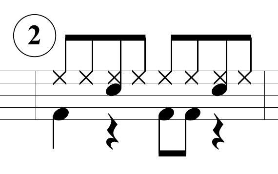 ベースドラムのパターン2