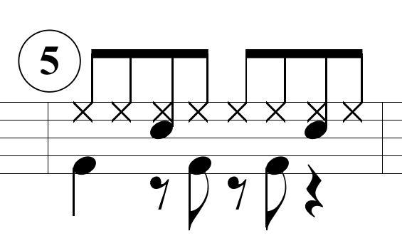 ベースドラムのパターン5